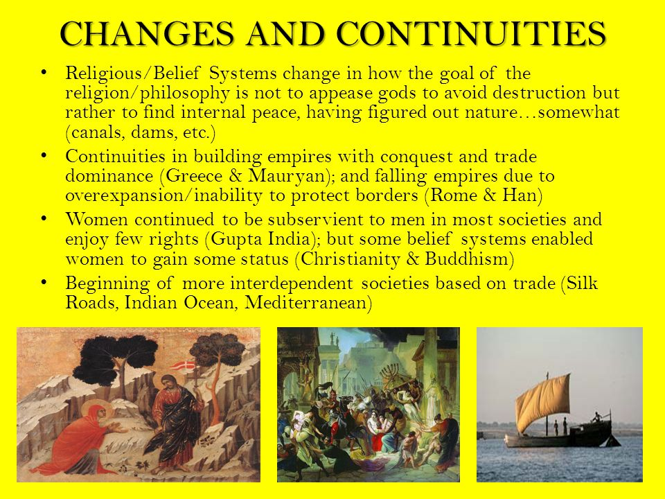 CHANGES AND CONTINUITIES