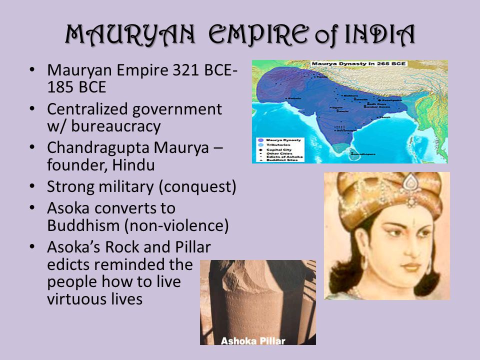 MAURYAN EMPIRE of INDIA