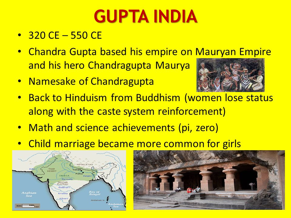 GUPTA INDIA 320 CE – 550 CE. Chandra Gupta based his empire on Mauryan Empire and his hero Chandragupta Maurya.