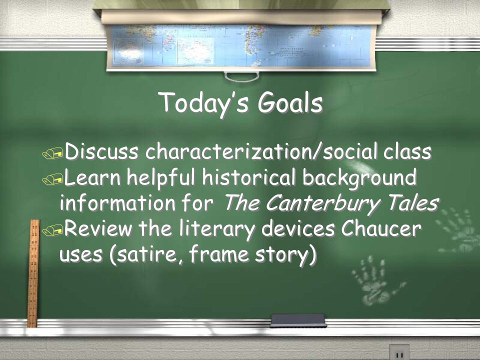 Today's Goals Discuss characterization/social class