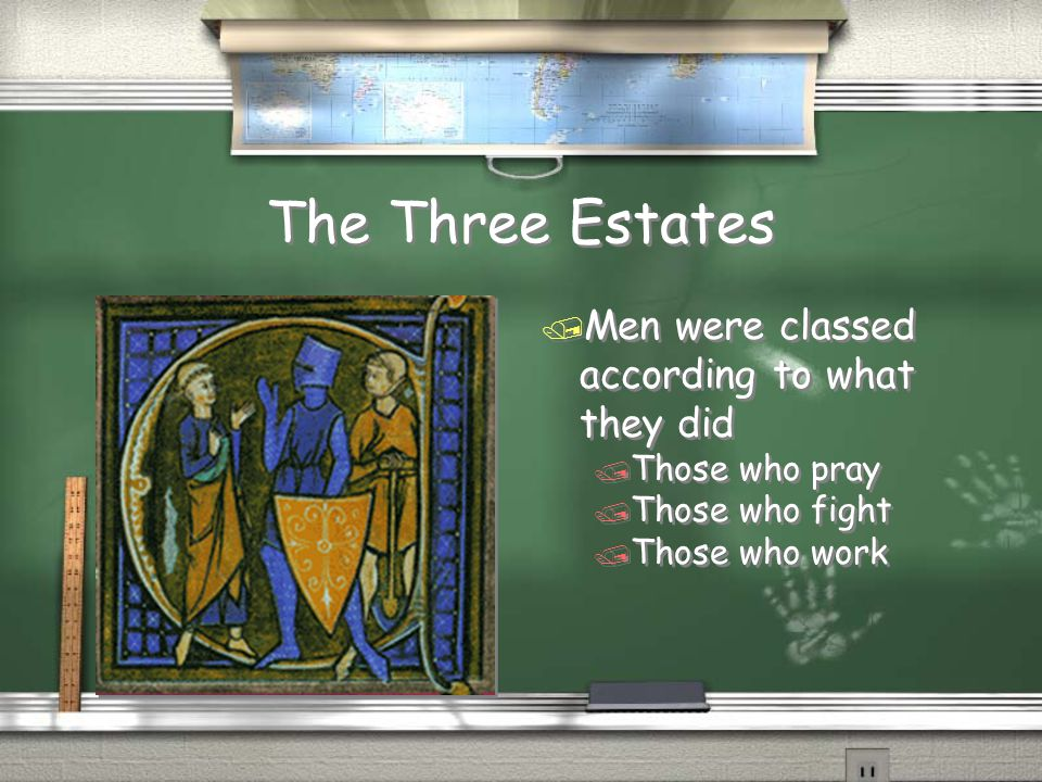 The Three Estates Men were classed according to what they did