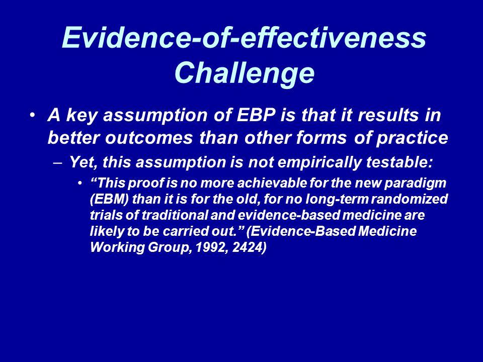 Evidence-of-effectiveness Challenge