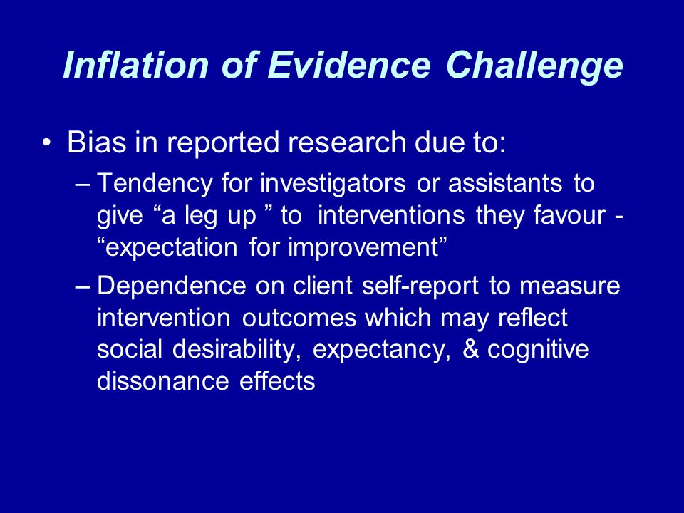 Inflation of Evidence Challenge
