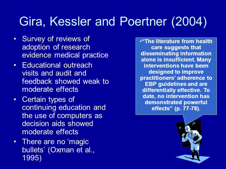 Gira, Kessler and Poertner (2004)