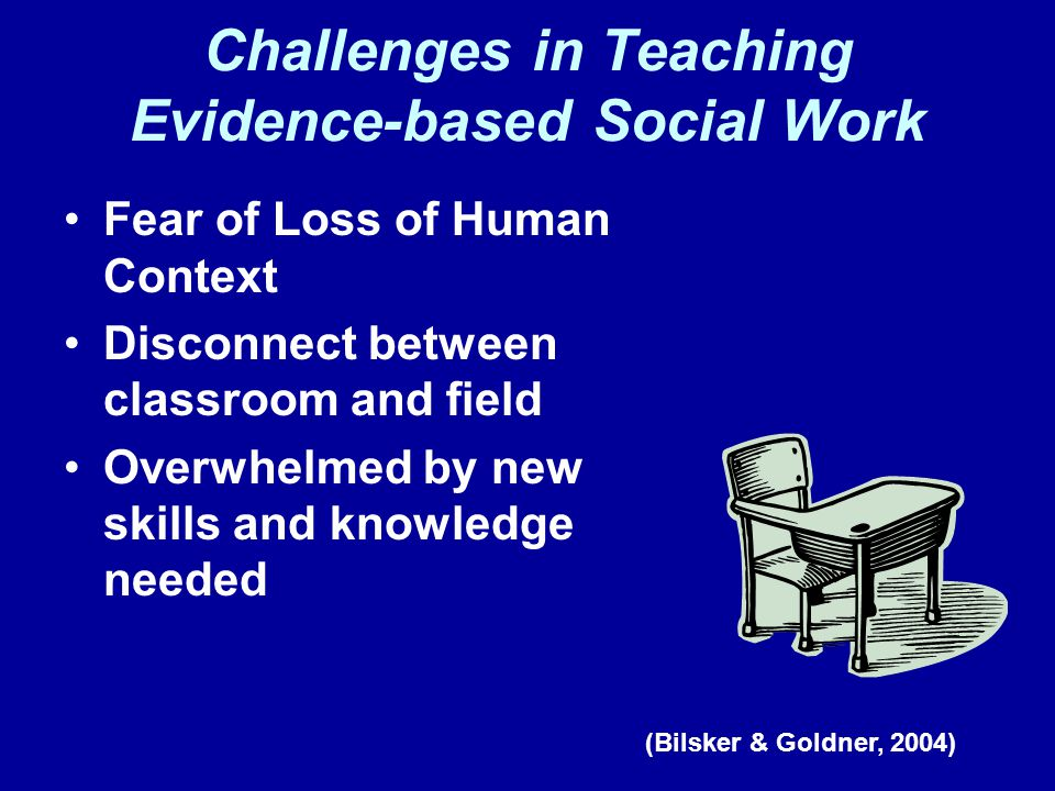 Challenges in Teaching Evidence-based Social Work