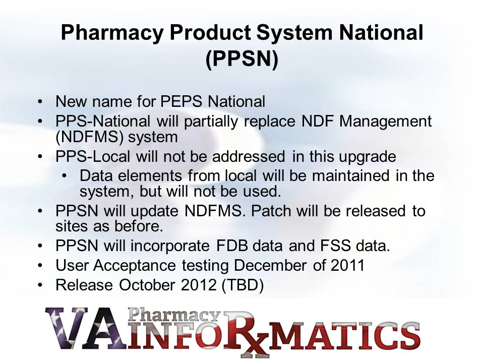 Pharmacy Product System National (PPSN)