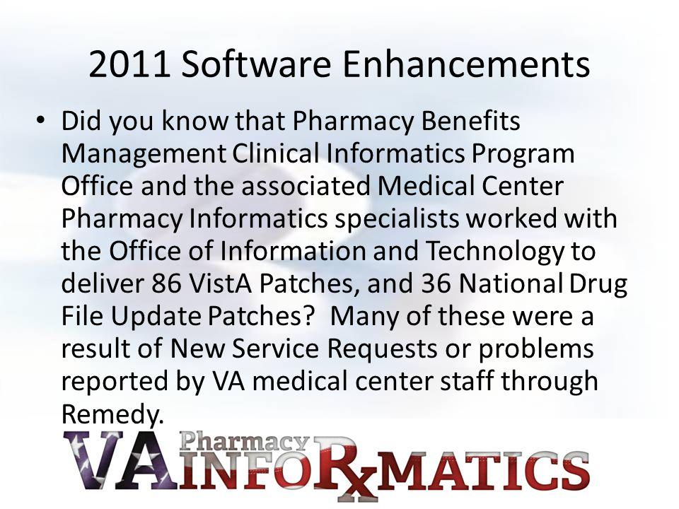 2011 Software Enhancements