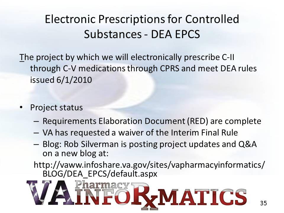 Electronic Prescriptions for Controlled Substances - DEA EPCS