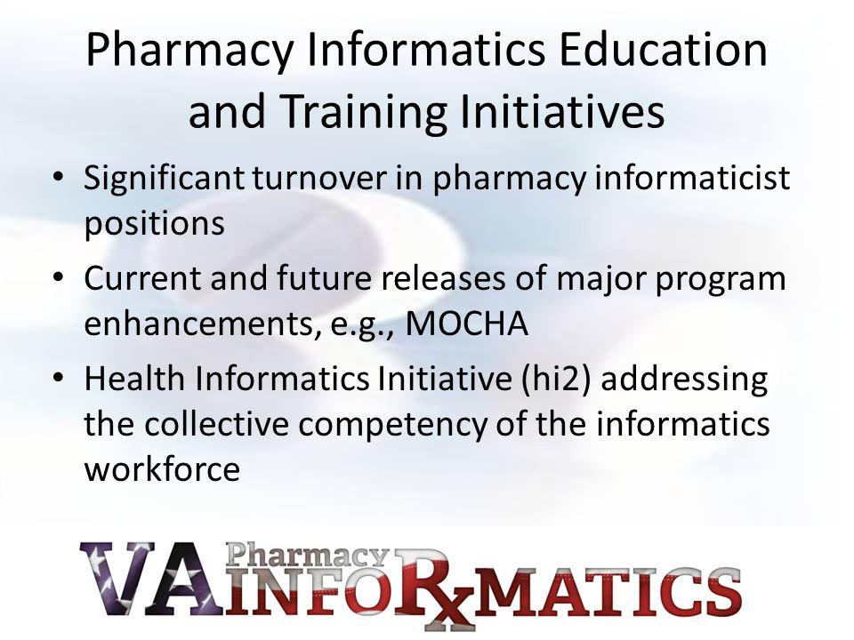 Pharmacy Informatics Education and Training Initiatives