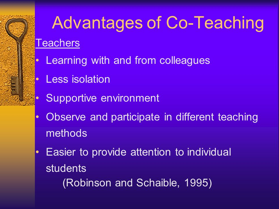 Advantages of Co-Teaching