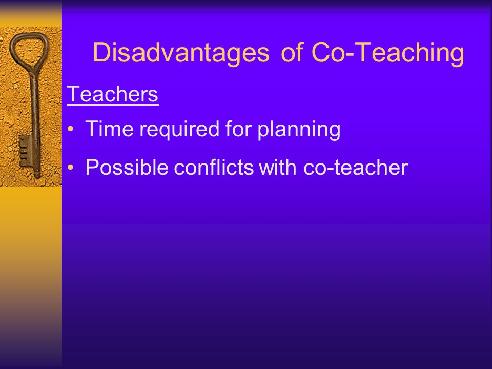 Disadvantages of Co-Teaching
