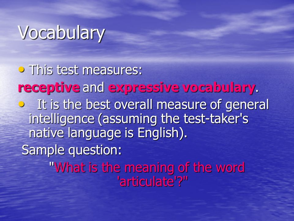 What is the meaning of the word articulate