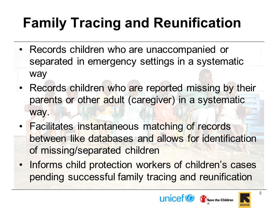 Family Tracing and Reunification