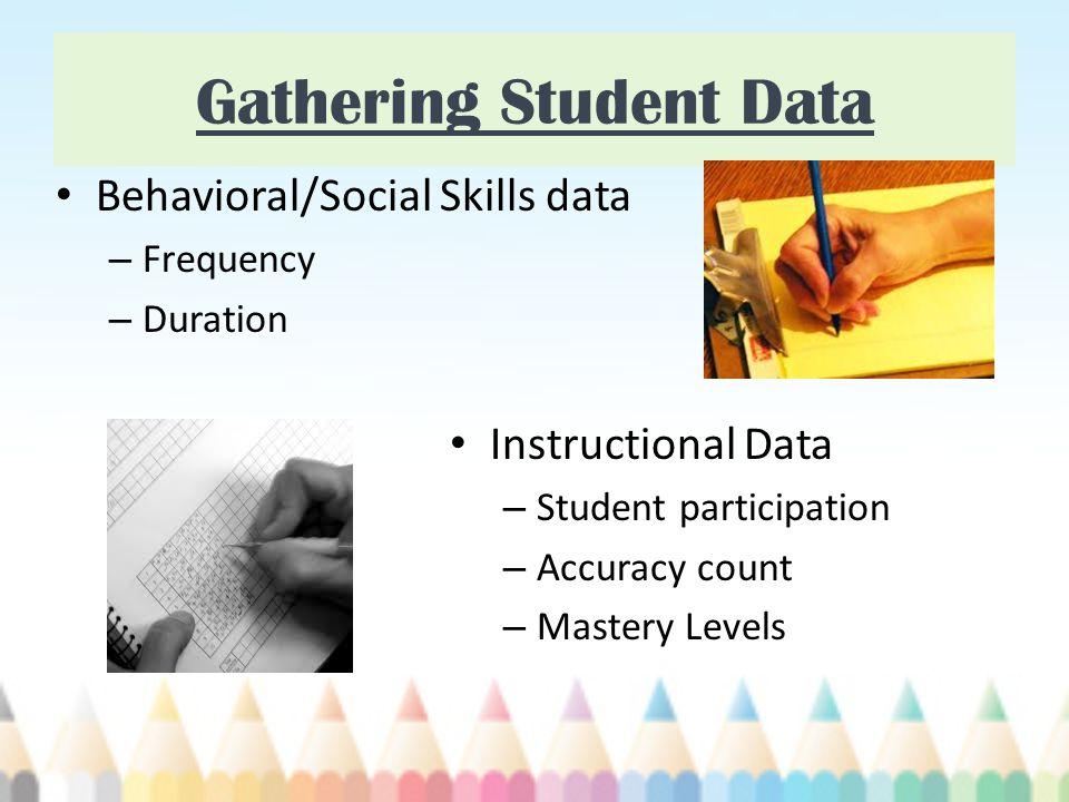 Gathering Student Data