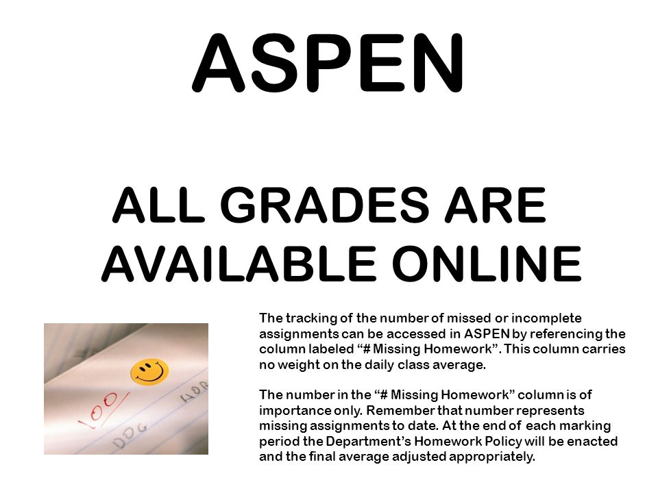 ALL GRADES ARE AVAILABLE ONLINE