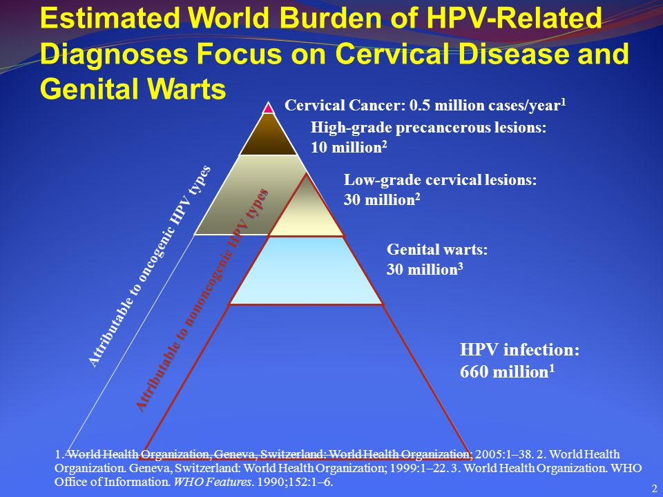 Estimated World Burden of HPV-Related Diagnoses Focus on Cervical Disease and Genital Warts
