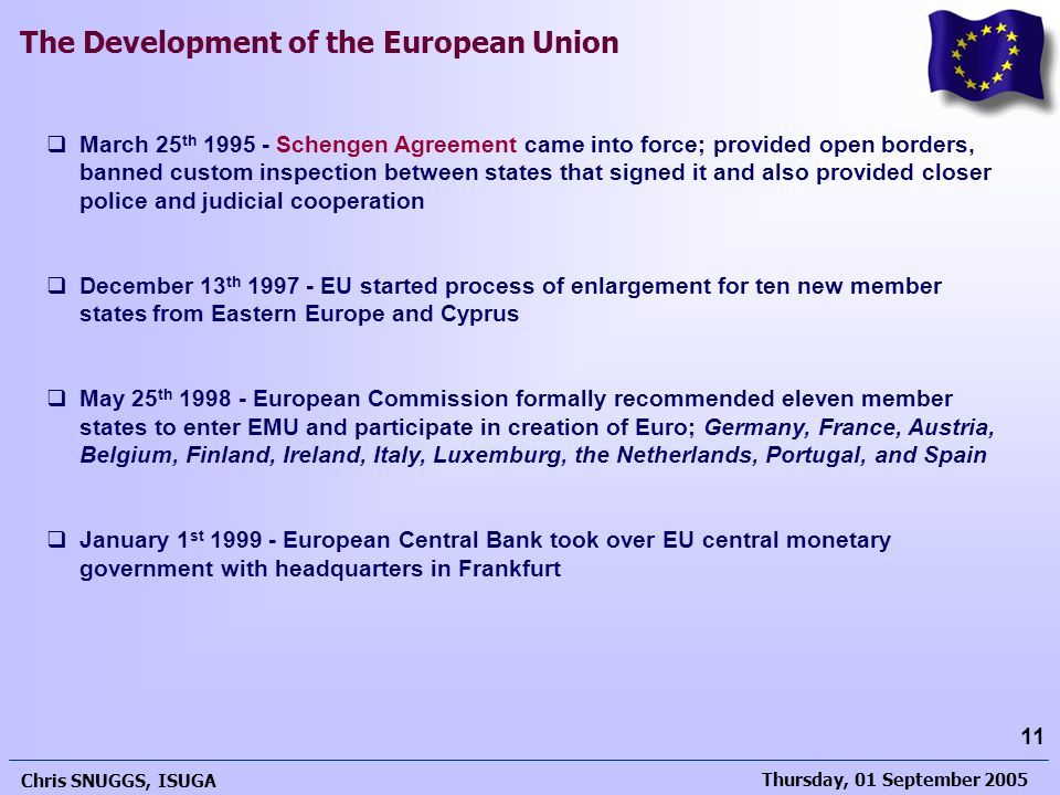 March 25th 1995 - Schengen Agreement came into force; provided open borders, banned custom inspection between states that signed it and also provided closer police and judicial cooperation