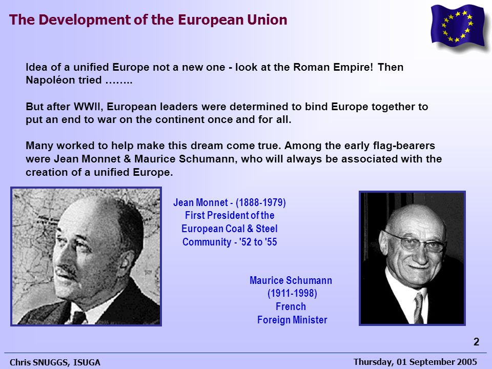 First President of the European Coal & Steel Community - 52 to 55