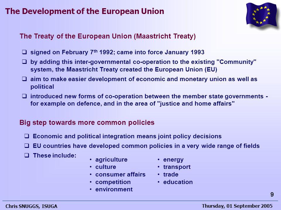 The Treaty of the European Union (Maastricht Treaty)