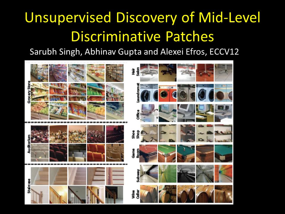 Unsupervised Discovery of Mid-Level Discriminative Patches