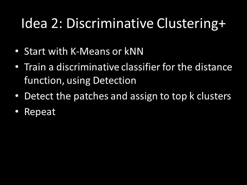Idea 2: Discriminative Clustering+