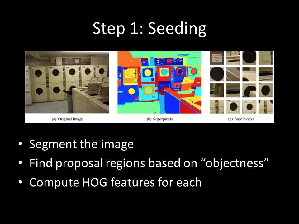 Step 1: Seeding Segment the image