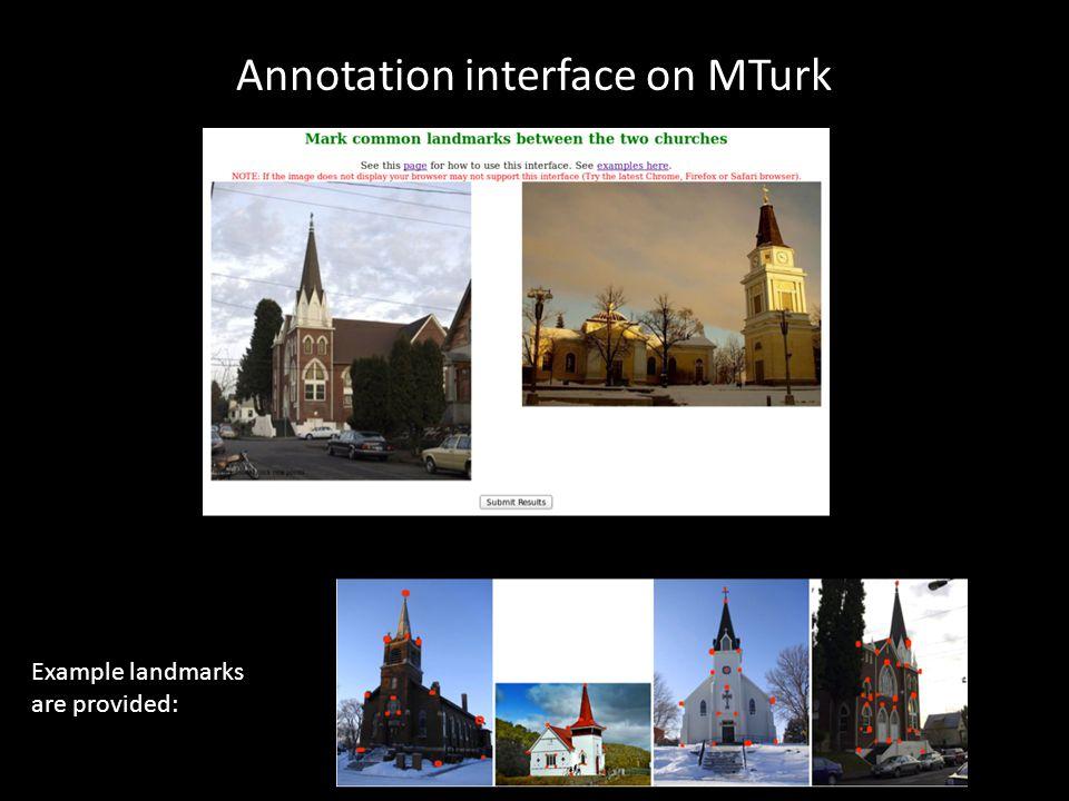 Annotation interface on MTurk
