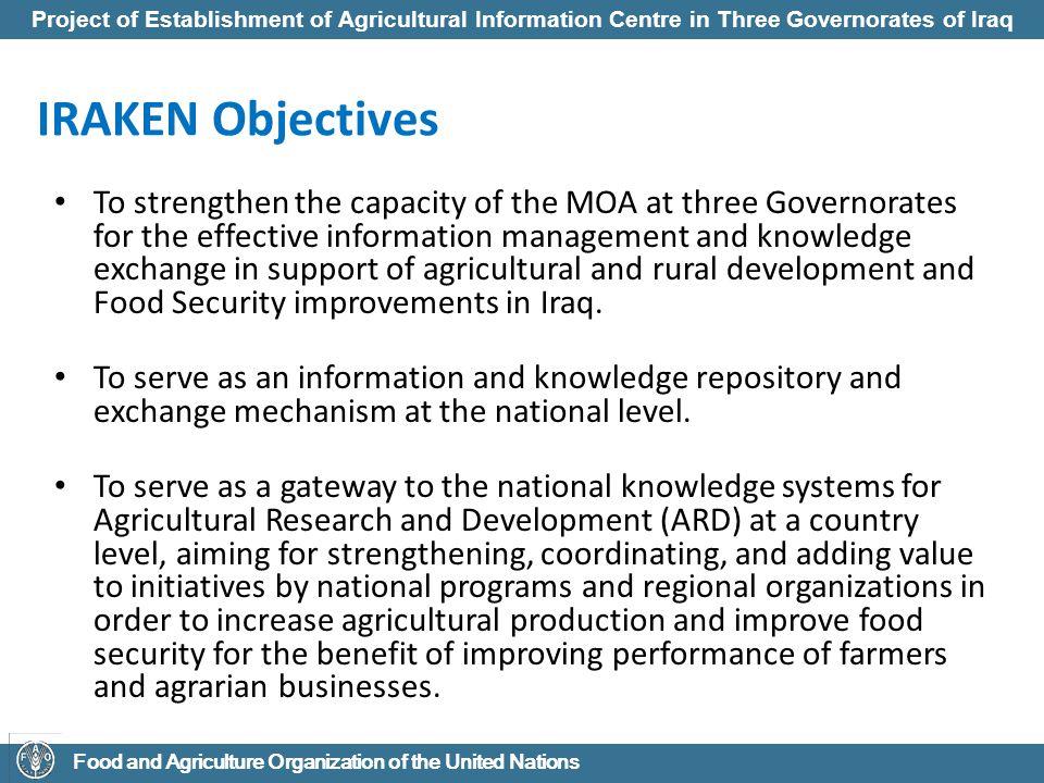 IRAKEN Objectives