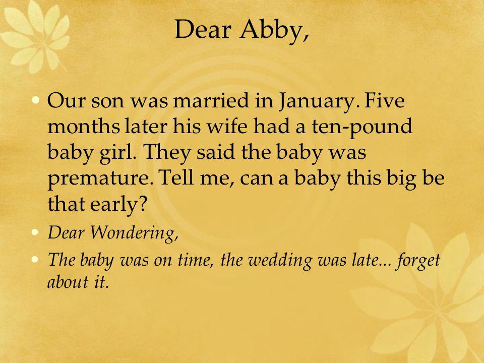 Dear Abby,