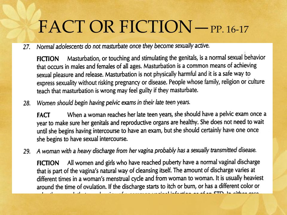 FACT OR FICTION—PP. 16-17