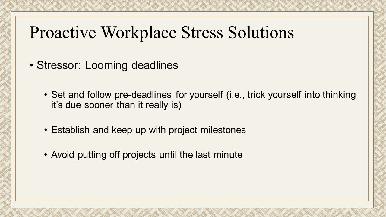 Proactive Workplace Stress Solutions
