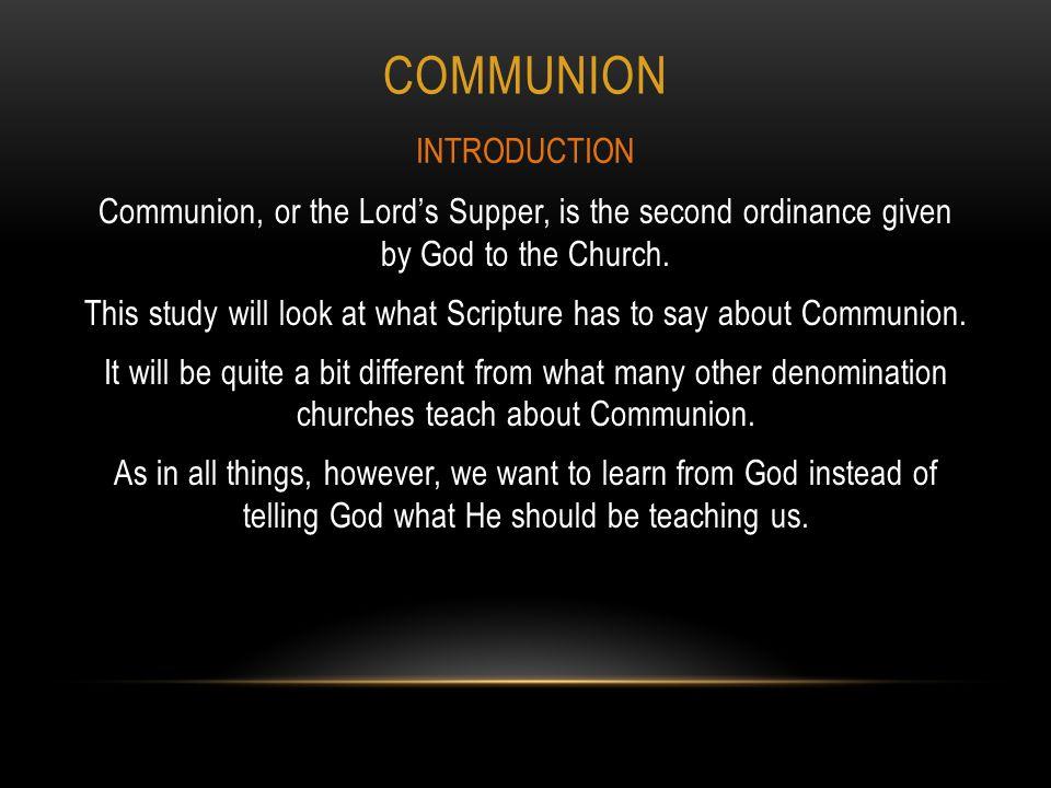Communion INTRODUCTION