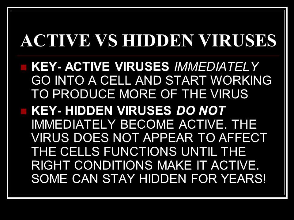 ACTIVE VS HIDDEN VIRUSES