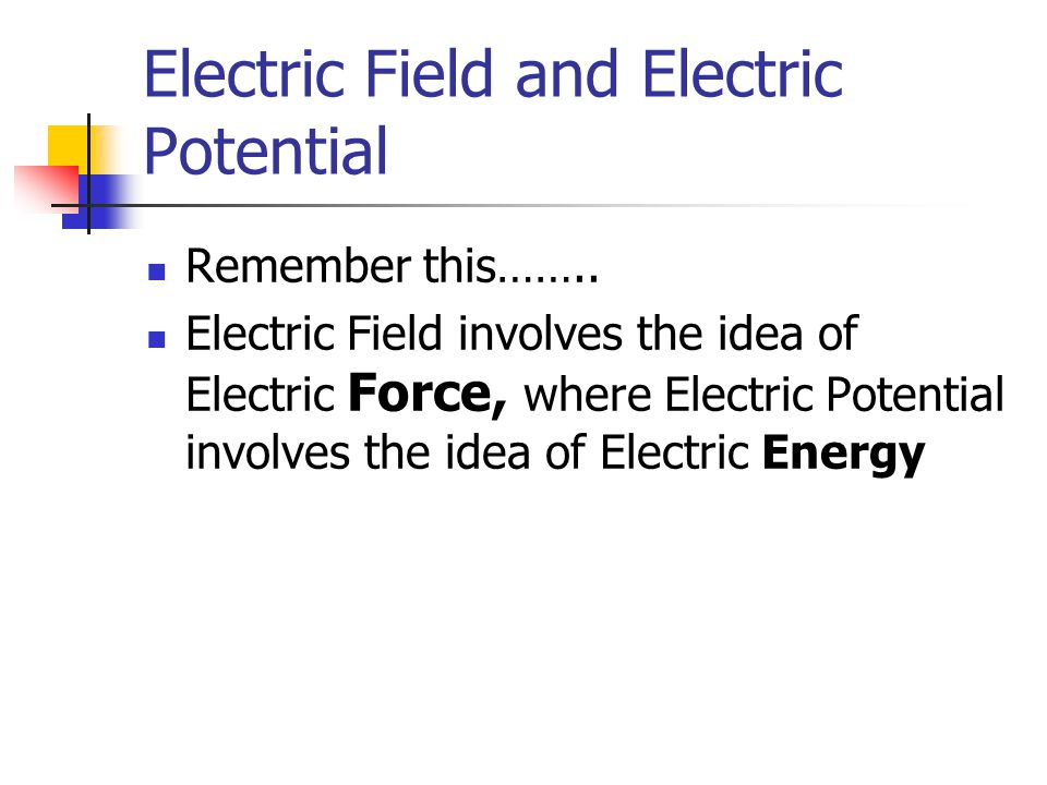 Electric Field and Electric Potential