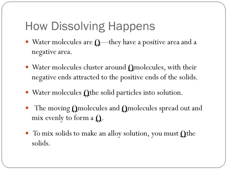 How Dissolving Happens
