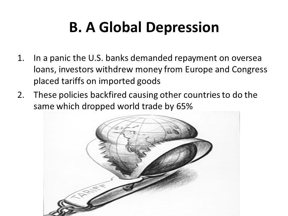 B. A Global Depression
