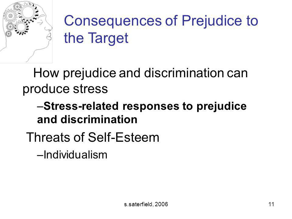 Consequences of Prejudice to the Target