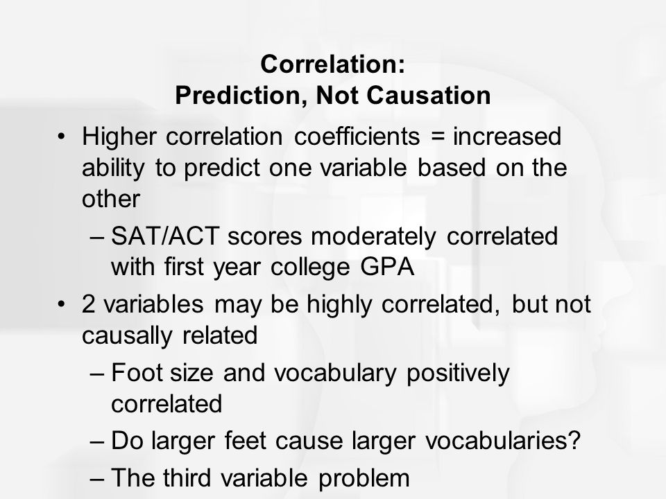 Correlation: Prediction, Not Causation