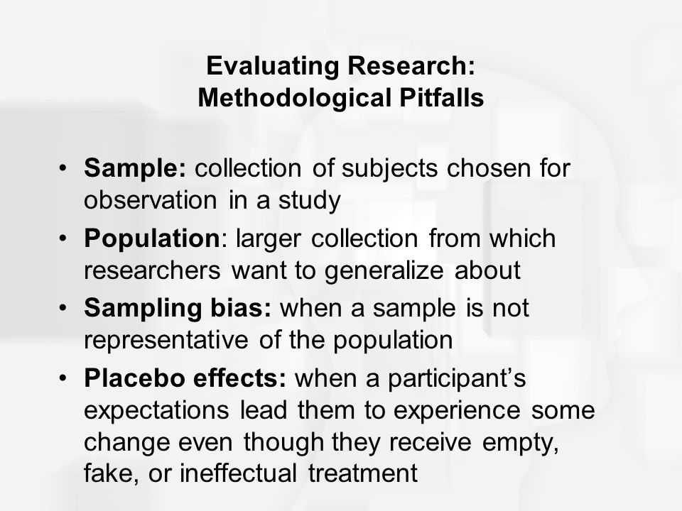 Evaluating Research: Methodological Pitfalls