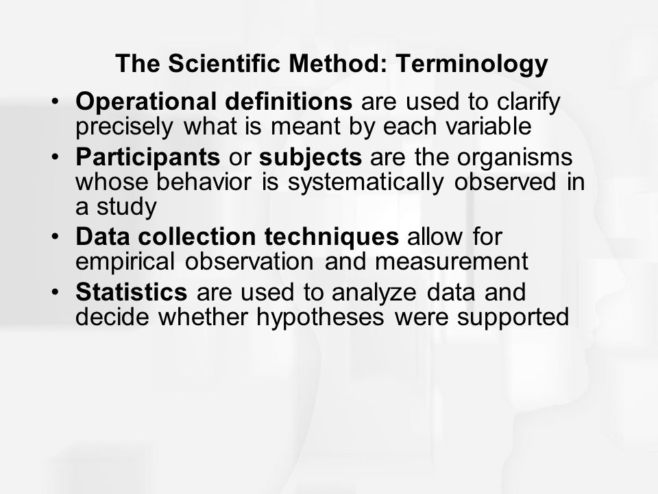 The Scientific Method: Terminology