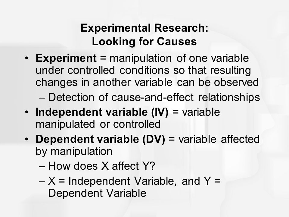 Experimental Research: Looking for Causes