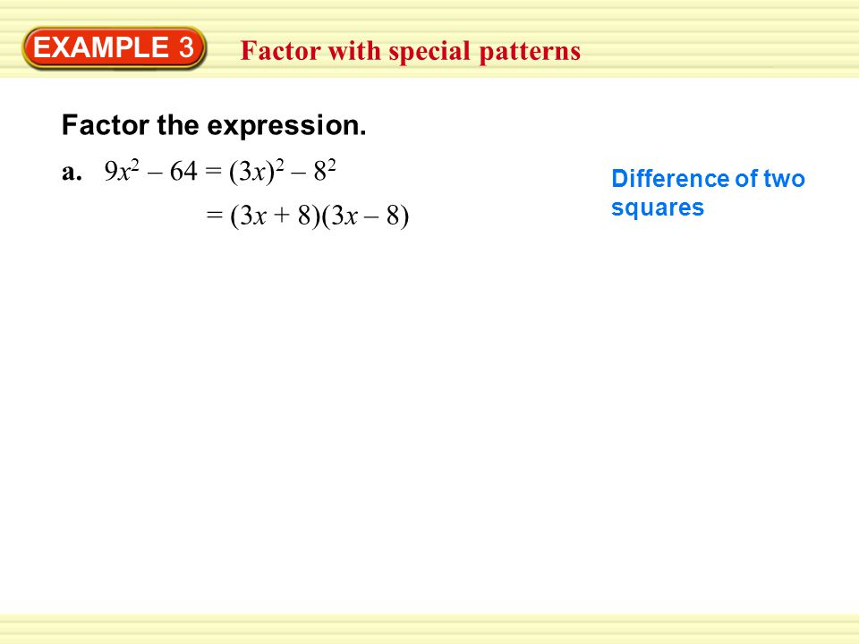Factor with special patterns