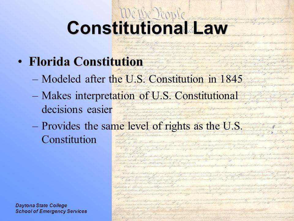 Constitutional Law Florida Constitution