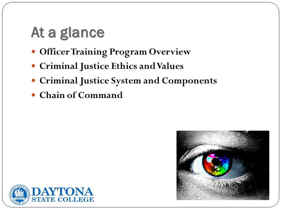 At a glance Officer Training Program Overview