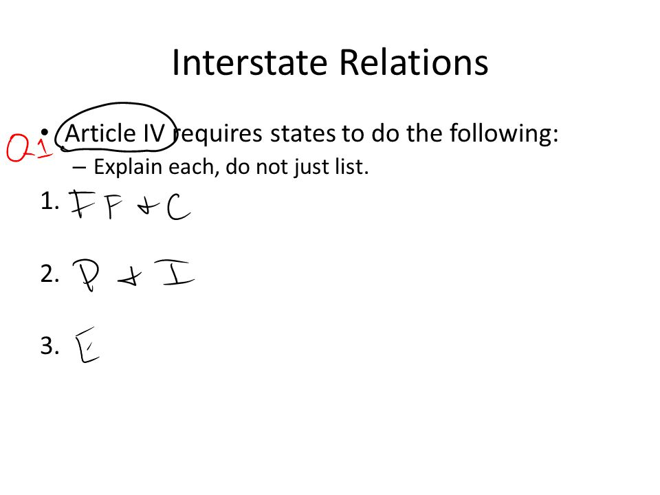 Interstate Relations Article IV requires states to do the following: