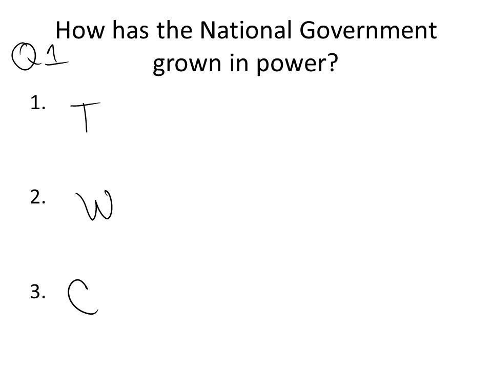 How has the National Government grown in power