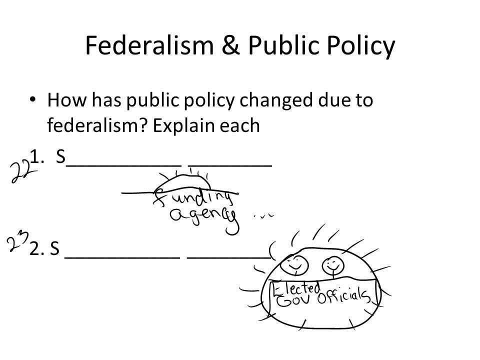 Federalism & Public Policy