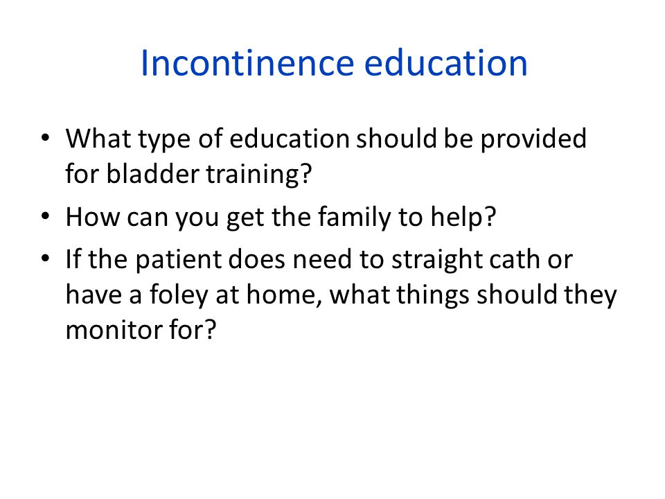 Incontinence education