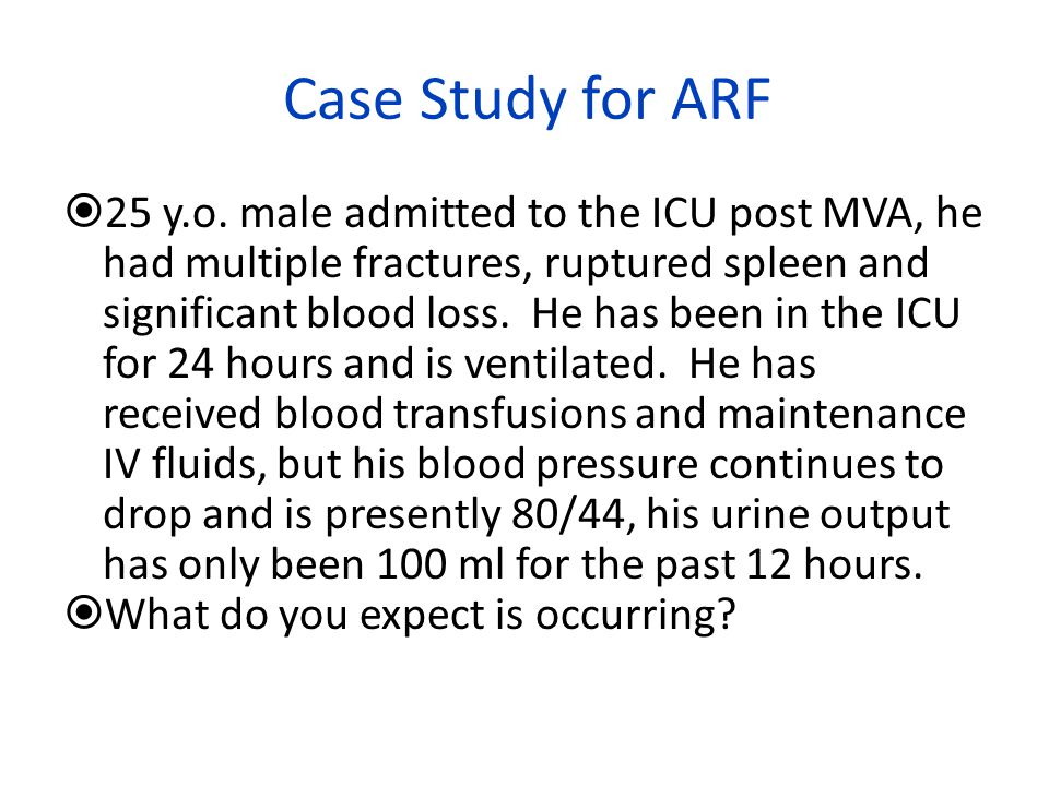 Case Study for ARF