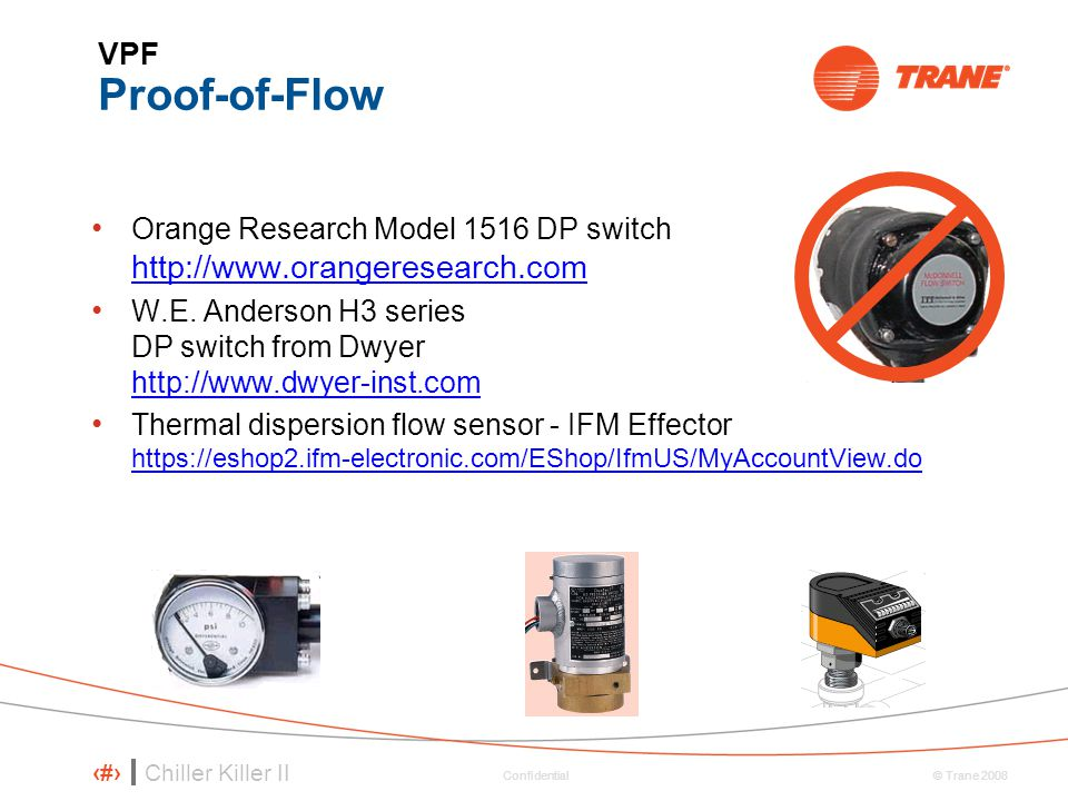 VPF Proof-of-Flow Orange Research Model 1516 DP switch http://www.orangeresearch.com.